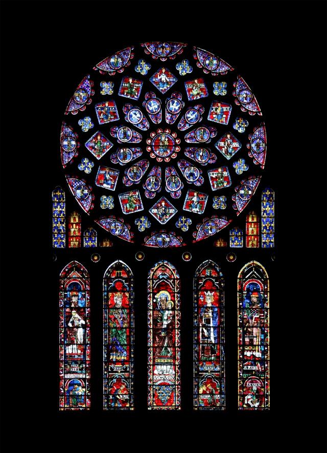 Rosace nord de la cathédrale de Chartres